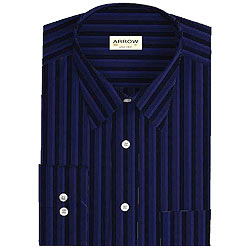 Full Striped Party Wear shirt in Dark shade from Arrow