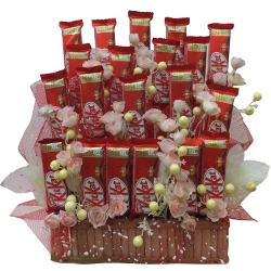 Arrangement of Nestle Kitkat Chocolates