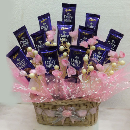 Delicious Cadbury Dairy Milk Basket