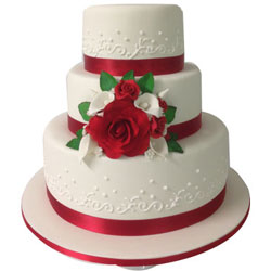 Yummy 3 Tier Wedding Cake