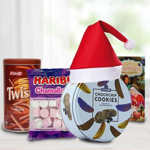 Delicious Cookies, Wafers N Marshmellos Combo for XMas
