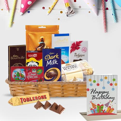Mouth-Watering Chocolates Gift Basket