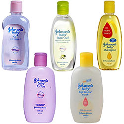 Johnson and Johnson-Baby Top-to-Toe Wash 100 ml, Baby Oil - 100 ml, Baby Lotion - 100 gms, Baby Shampoo 100 ml, Baby Hair Oil 100 ml