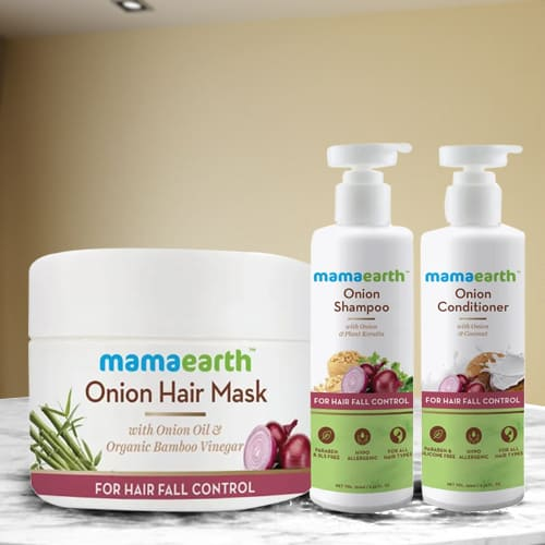 Exclusive Mamaearth Onion Anti Hairfall Spa Kit