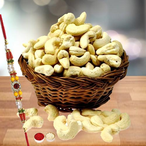 Cashews with Free Rakhi and Roli Tilak Chawal
