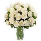 Charming White or Creamy Roses with a Vase