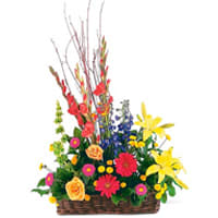 Bright Mixed Flowers Arrangement