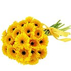 Stylish Bouquet of Gerberas in Yellow Colour