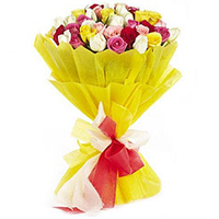 Gorgeous Shades of Brilliance 24 Mixed Roses Bouquet