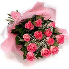 Shimmering Beauty Pink Roses Bouquet