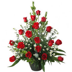 Aromatic Selection of 18 Red Roses in a Basket