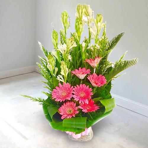 Blooming Bouquet of Fresh Flowers for Sweet 16 Celebration