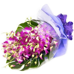 Stunning Purple Orchids Bouquet