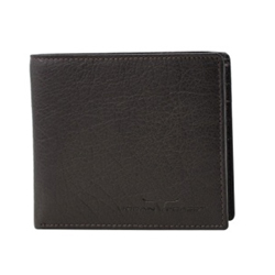 Eye-Catching Black Coloured Urban Forest Leather Wallet Made of Pure Leather