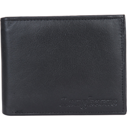 Impressive Gents Leather Wallet in Black Presented by Longhorn