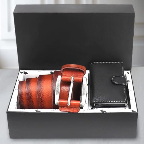 Exclusive Hide and Skin Mens Leather Card Holder N Belt