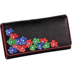 Wonderful Leather Flower Design Wallet from Leather Talks