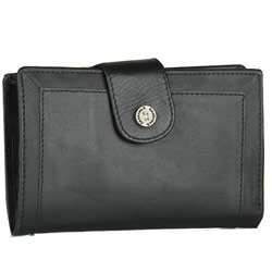 Elegant Titan Fastrack Ladies Leather Wallet in Black