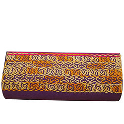 Amazing Leather Clutch Bag in Purple for Ladies