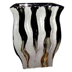 Lovely Silver Finish Flower Vase
