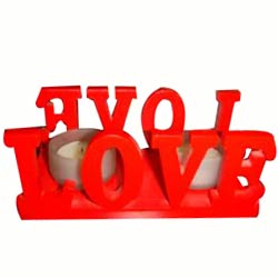 Amazing Love Candle Stand Gift with 2 Candles