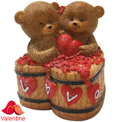 Adorable Couple Teddy with a Heart