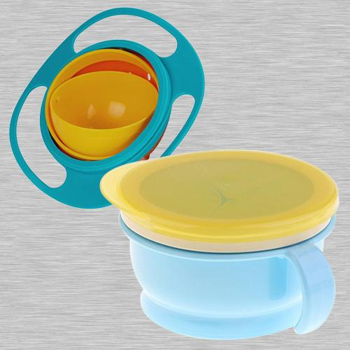 Exclusive No Spill Gyro Bowl N Baby Feeding Bowl