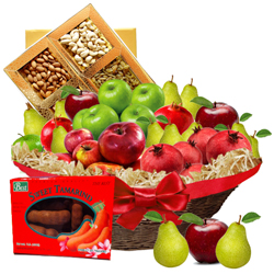 Radiant Double the Fun Fruit N Nut Gift Basket