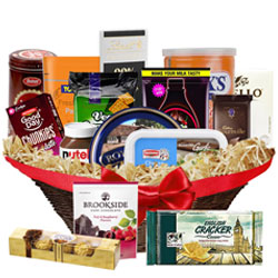 Mesmerizing Fathers Delight Gourmet Treat Basket