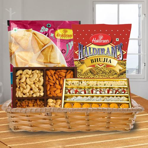 Appealing Delicacies in a Basket