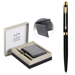 Glamorous Parker Metal Vector Pen and Wallet Gift Set