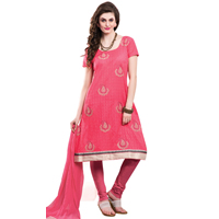 Graceful Chiffon Embroidered Salwar Kameez in Pink