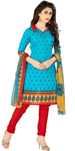 Sensational Cotton N Chiffon Printed Salwar Suit from Welcome Brand