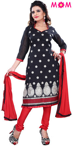 Remarkable Women's Black Cotton Printed Salwar