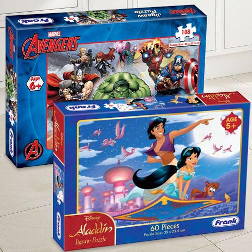 Wonderful Frank Marvel Avengers N Disney Aladdin Puzzle Set