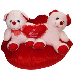 Attractive Couple Teddy in a Lip with Heart Touching Romance