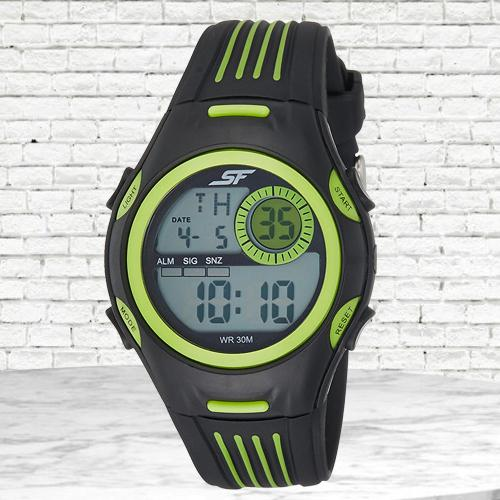 Attractive Sonata Fibre Digital Mens Watch