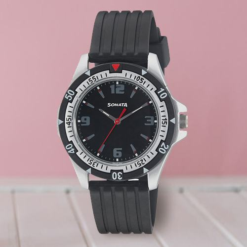 Remarkable Sonata Analog Mens Watch