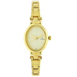 Gracious Titan Golden Watch for Women