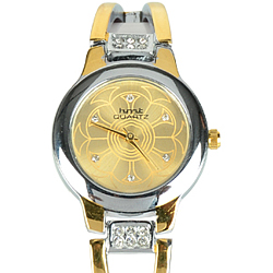 Incomparable Two Tone Stylish Wrist Watch for Beloved